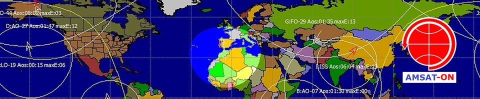 Satellites around the world